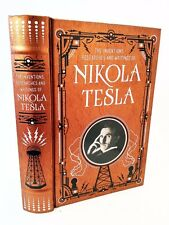 Nikola Tesla Electricity History Book Leather Bound Patent AC Motor Electrical