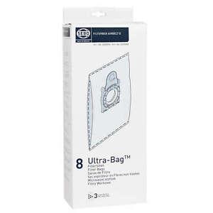 GENUINE SEBO  8300ER     Filterbox Airbelt E     Ultra CLEANER FILTER BAGS