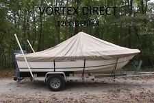 "VORTEX 1200D SUPER HEAVY DUTY 7 YEAR CANVAS TAN 23'6"" CENTER CONSOLE BOAT COVER"