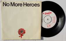 "The STRANGLERS 7"" No More Heroes 1977 UK original 4 Prong SIDE 1 / 1 Red Letters"