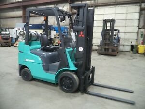 2010 Mitsubishi FGC25N-LP, 5,000#, 5000# Cushion Tired Forklift w/ 3 Stage & SS
