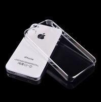 iPhone 4 4S Hardcase KLAR TRANSPARENT dünn Cover Hülle Schale Slim bumper Etui
