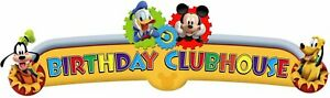 Mickey Mouse Clubhouse Playtime Disney Kids Birthday Party Decoration Banner