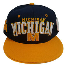 Michigan Two Tone Navy/Yellow Arch Style Snapback