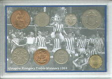 Glasgow Rangers Gers The Treble Winners Vintage Coin Supporter Fan Gift Set 1964