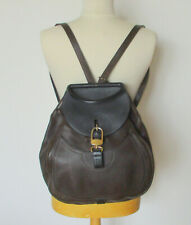 Très beau sac à dos DELVAUX Lucifer en cuir marron et noir en TBE