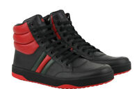 Gucci Mens Red/Black High Top Sneakers Shoes Size 8.5EU/Size 9.5 US 368494 DEF30