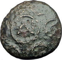 Antigonos II Gonatas 274BC Macedonia Ancient Greek Coin w SHIELD & HELMET i61313