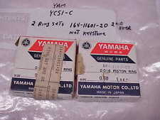 YAMAHA,NOS,OEM, YCS1-C,(2) PISTON RINGS SET ,164-11601-20 ,2ND OVER,NEW, #108