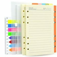2 Pack A6 Refill Paper Lined 200 Sheets400 Pages And 5 Colorful Index Divide