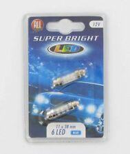 All Ride Superbright 6 LED Festoon 11 x 38mm – Pack of 2 Blue