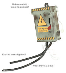"""Halloween Prop """"Live"""" Electrical Fuse Box Kill Switch Animatronic Voltage Real"""