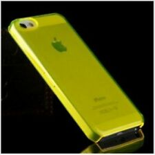 YELLOW iPhone 5 5C 5S Crystal Clear Plastic Skin Case Cover Thin Transparent New