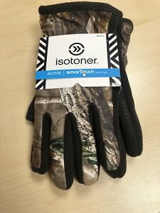 Isotoner Active SmartTouch Gloves Thermaflex Lining Camouflage Warm Sz XL  NWT