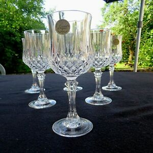 2 Lots Vorhanden 6 Flöten für Champagner Cristal D/'Arques Modell Auteuil Lila
