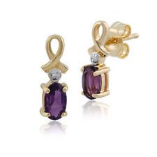 Pendientes de joyería morado diamante