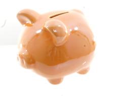 NEW CHILDREN'S ORANGE PIGGY BANK MONEY BOX