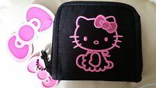 HELLO KITTY porte-monnaie, porte cartes noir et rose neuf