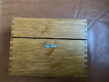 GLOBE WERNICKE NO 83C OLD WOOD BOX finger jointed vintage USA