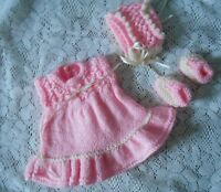 """Doll Clothes bright pink dress Handcrafted  fit Am Char 10"""" / 11"""" Kewpie Cameo"""