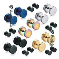 1 Pair Top Quality Fake Black Ear Stretcher Plugs Cheater Mens Earrings 3-12mm