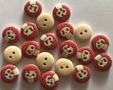 18 Cats  - LOT 5 - Wooden Buttons - Sewing, Craft, Scrapbooking,Quilting