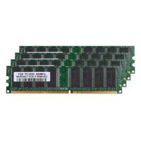 New 4X 1GB PC3200 DDR1 400MHz 184Pin DIMM Desktop Low Density Memory For Intel