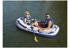 """Pathfinder Two Person River Lake Canoe Raft with Hand Pump & Two Oars 43"""" x 86"""""""