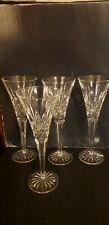 Waterford Lismore Toasting Champagne Flutes Glass Set Of 4