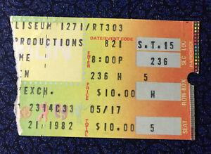 Van Halen Concert Ticket Stub Richfield August 21 1982