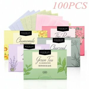 100Pcs facial oil-absorbing paper, portable pull-out extracting fragrance makeup