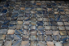 Mother of Pearl Mosaic Tile Dark Blue Grey 20x20 / SQM MOP20DBG
