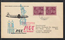 A 29 )beautiful FFC PAA Pan American Airline First Flight Cover München-New York