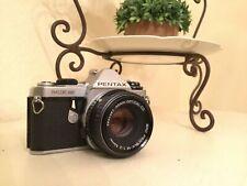 Pentax ME Super 35mm Vintage SLR Camera With 1:2 50mm SMC Lens (Tested)
