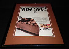 1987 Jell-O No Bake Pie / Cheesecake Framed 11x14 ORIGINAL Advertisement