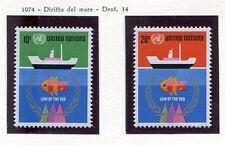 19117). UNITED NATIONS (New York) 1974 MNH** Nuovi** Sea