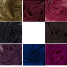 Premium 100% Silk Chiffon Plain Fabric Dress Lining Bridal Craft Light Material