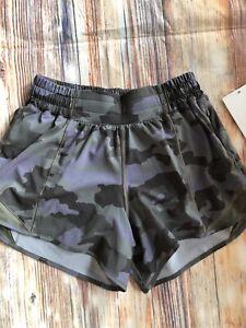 """Lululemon NWT Hotty Hot 4"""" Lined Short Heritage Camouflage Size 6"""