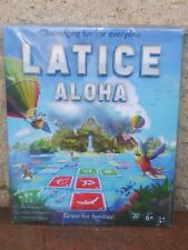 Latice Aloha Strategy Card Board Game Hawaiian Beach Ocean Theme Save Manatees