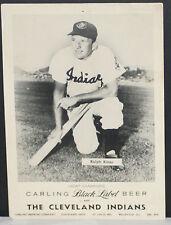 "1955-61 Ralph Kiner, Cleveland Indians, Black Carling Photo, 8.5"" x 12"""