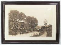 Antique A Catskill Mountain Mill Ernest C. Rost Etching Print Framed