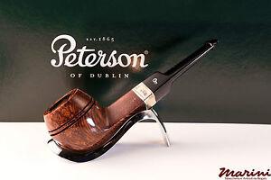 PFEIFE PIPES PIPE PETERSON OF DUBLIN WICKLOW 150 DRITTA RADICA ORIGINALE SILVER
