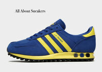 """ADIDAS LA """"Blue-Yellow"""" Trainers All Size Limited Stock"""