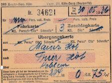 ANTIGUO BILLETE DRG zuschlagkarte von 1936 para 0,75rm (agk1663)