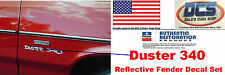 1970 71 Plymouth Duster 340 Reflective Fender Decal Set New MoPar
