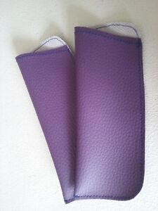 pack 2 - HANDMADE Eyewear Pouch Sunglass READING Glasses Optical Soft Carry Case
