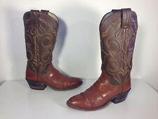 Olathe Brown Leather Vintage Classic Riding Rodeo Cowboy Boots Women Sz 5A 34093