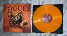 Pogues The Best Of Limited Orange Vinyl LP inc fairytale of New York mint