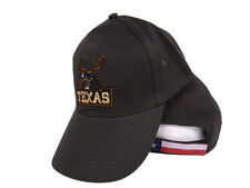 State of Texas Hunting Deer Season Hunter Olive Drab Flag Embroidered Cap Hat
