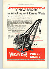 1928 Paper Ad COLOR 2 PG Weaver Tow Truck Wrecker Bohnalite Alloy Piston